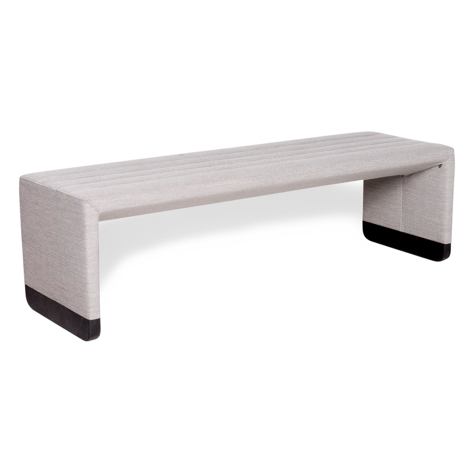 Cor Bridge Stoff Hocker Bank Grau Hockerbank Schemel #8791