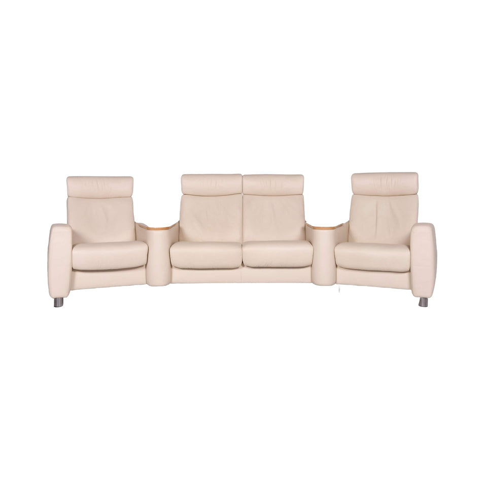 Stressless Arion Leder Sofa Beige Viersitzer Funktion #9539