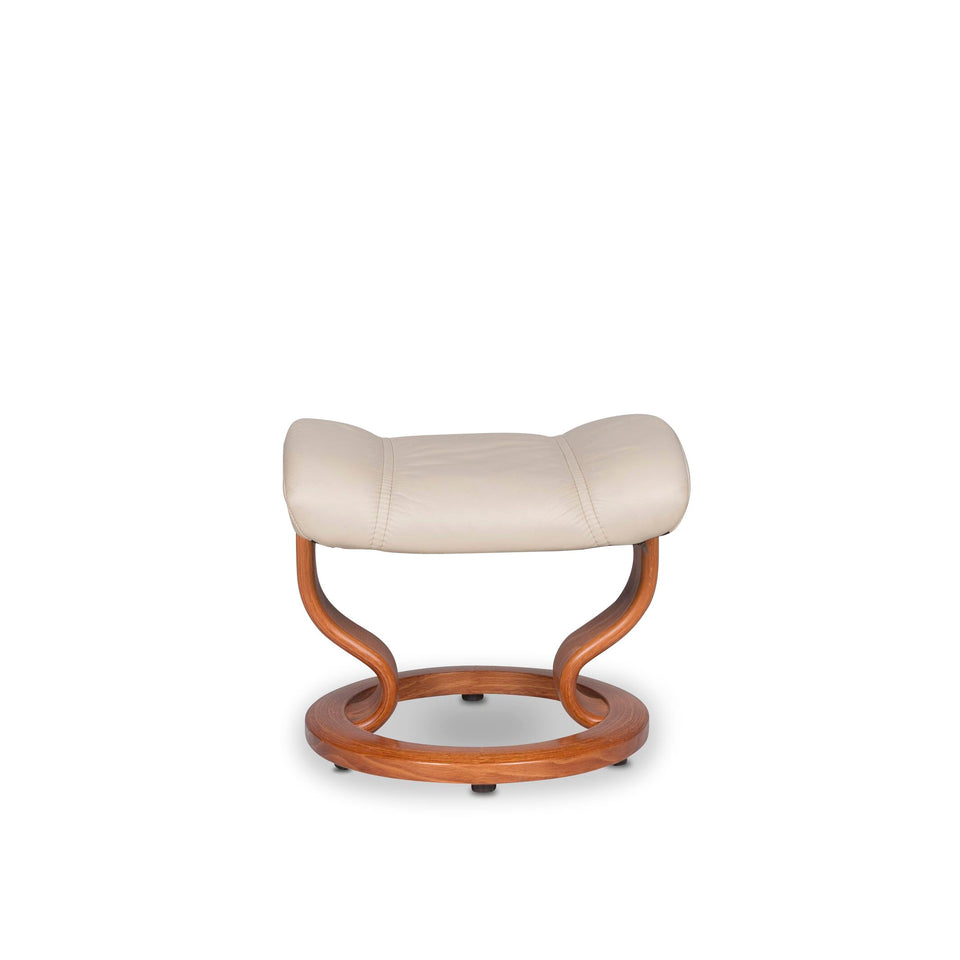 Stressless Leder Hocker Beige #9935