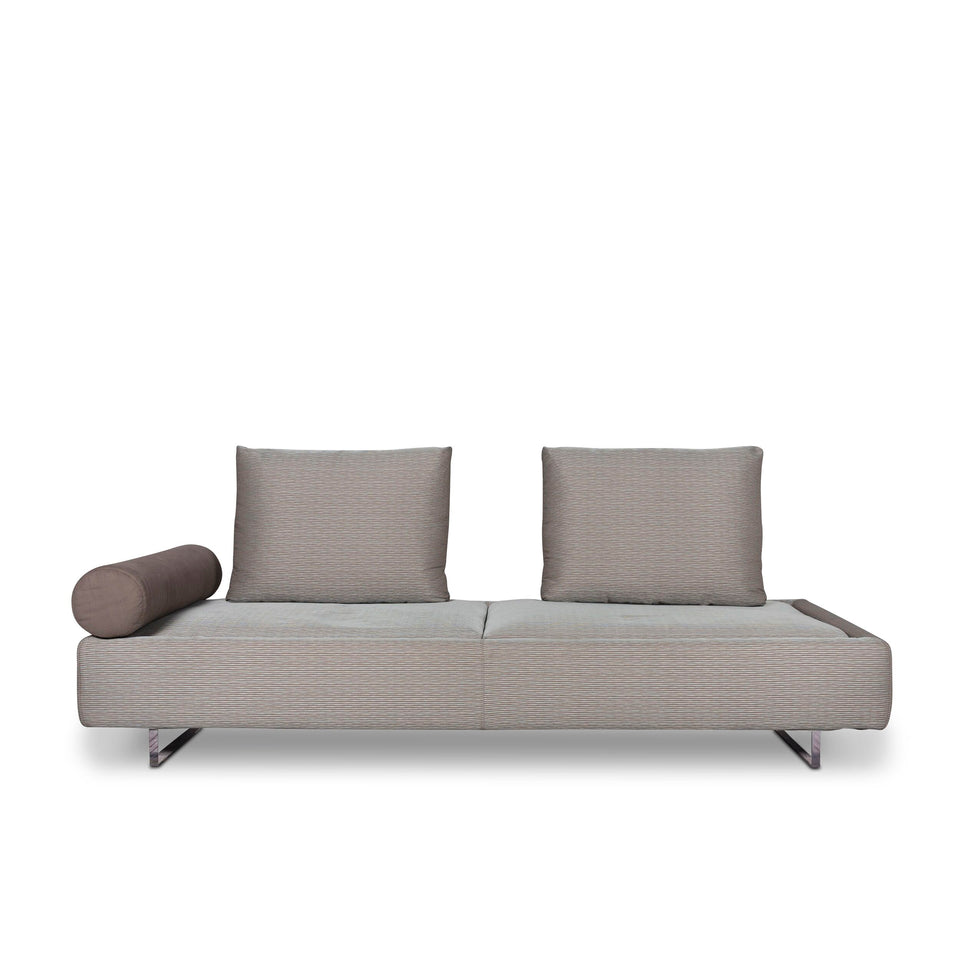 Who's Perfect Stoff Sofa Mint Grau Zweisitzer Schlafsofa Funktion Couch #9798