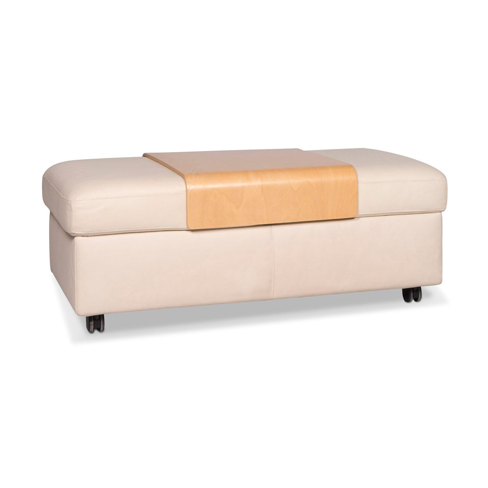 Stressless Arion Leder Hocker Beige #9540