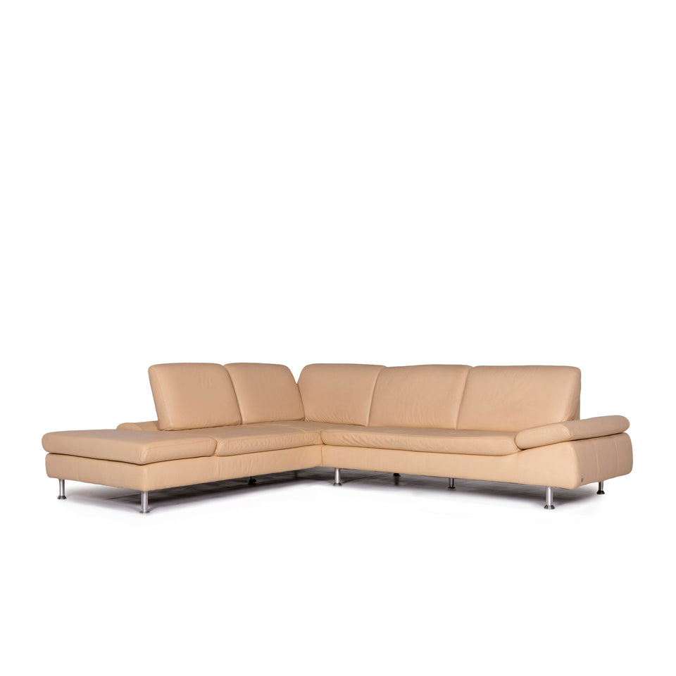 Willi Schillig Loop Leder Ecksofa Beige Sofa Funktion Couch #10648