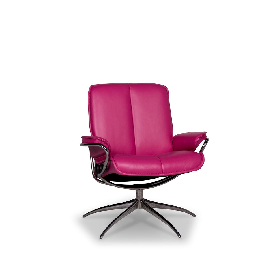 Stressless City Designer Leder Sessel Pink #9849