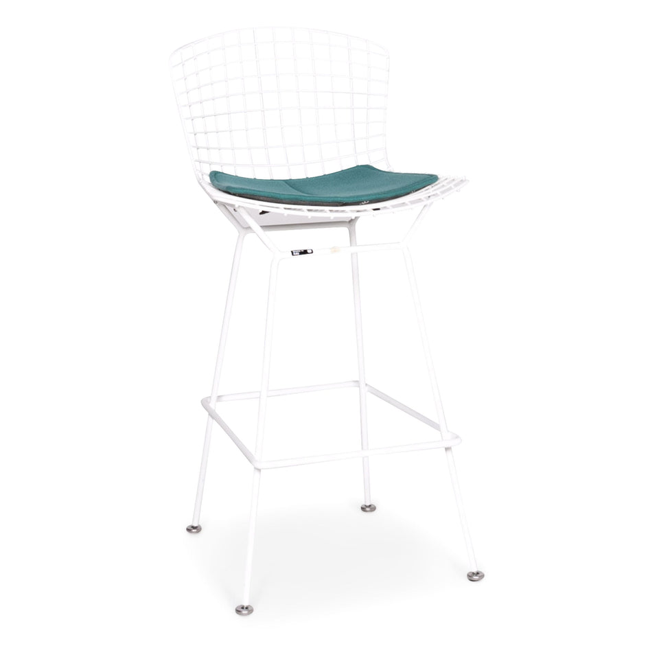 Knoll International Bertoia Barstuhl Metall Stuhl Sessel Weiß Türkis Stuhl Hocker #8663