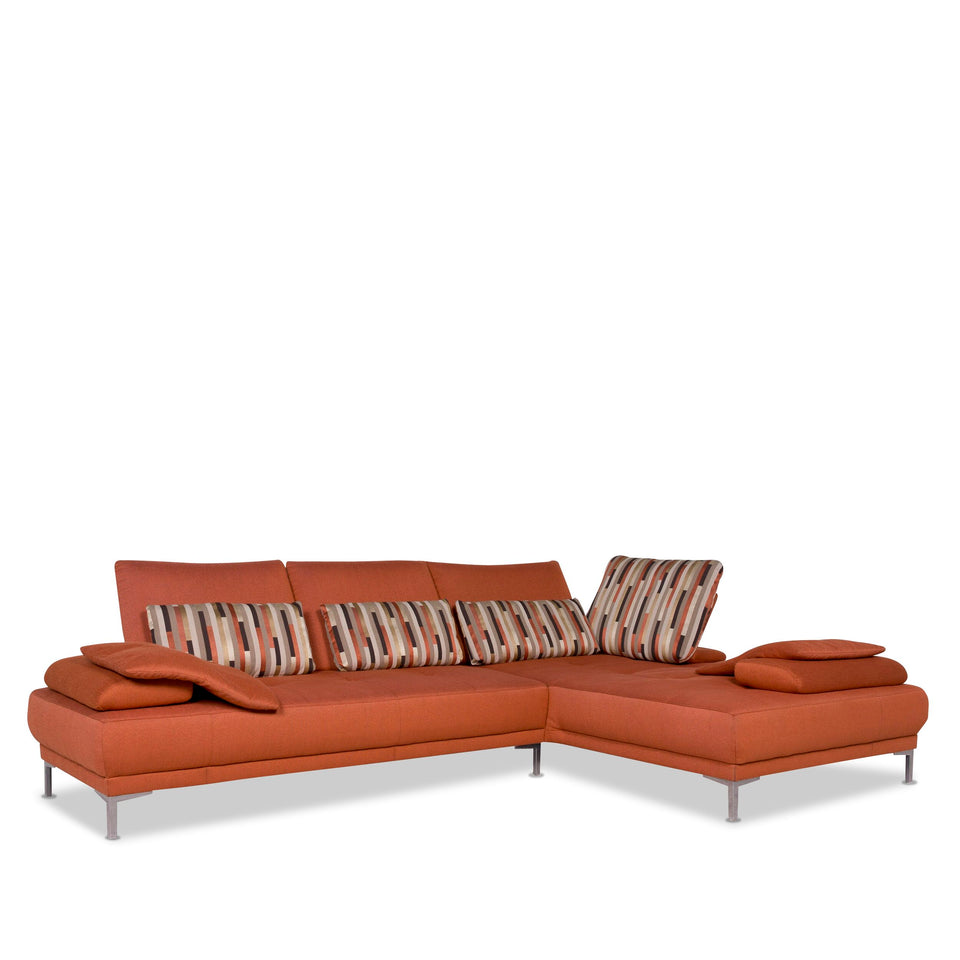 Willi Schillig Stoff Sofa Orange Ecksofa #10039