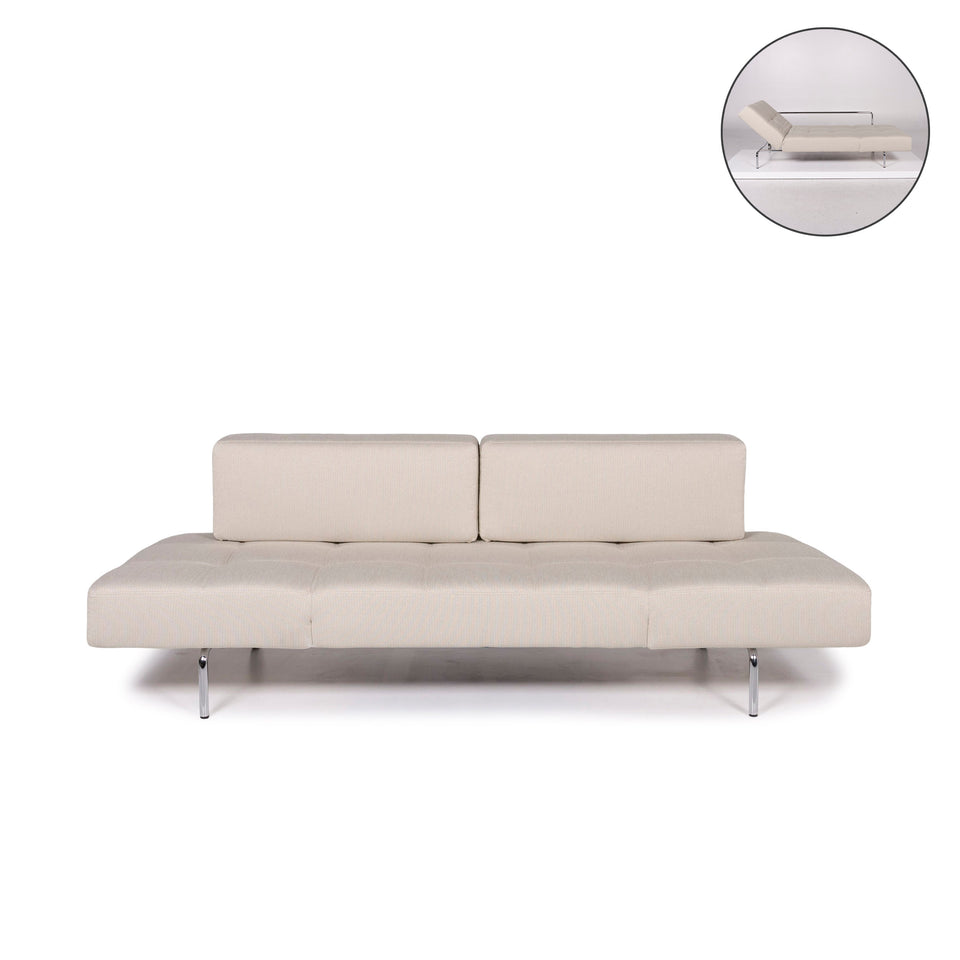 Brühl & Sippold Jerry Stoff Sofa Beige Grau Dreisitzer Funktion Relaxfunktion #11838