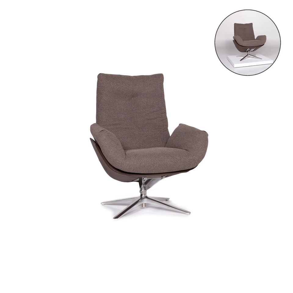 Cor CORDIA Stoff Lounge Sessel Braun Schlamm Kippfunktion Relaxfunktion Funktion #10891