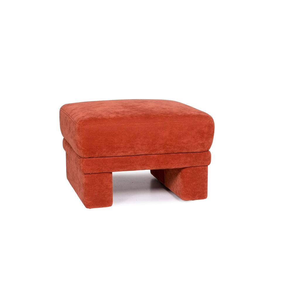 Himolla Stoff Hocker Orange Rostrot #11215