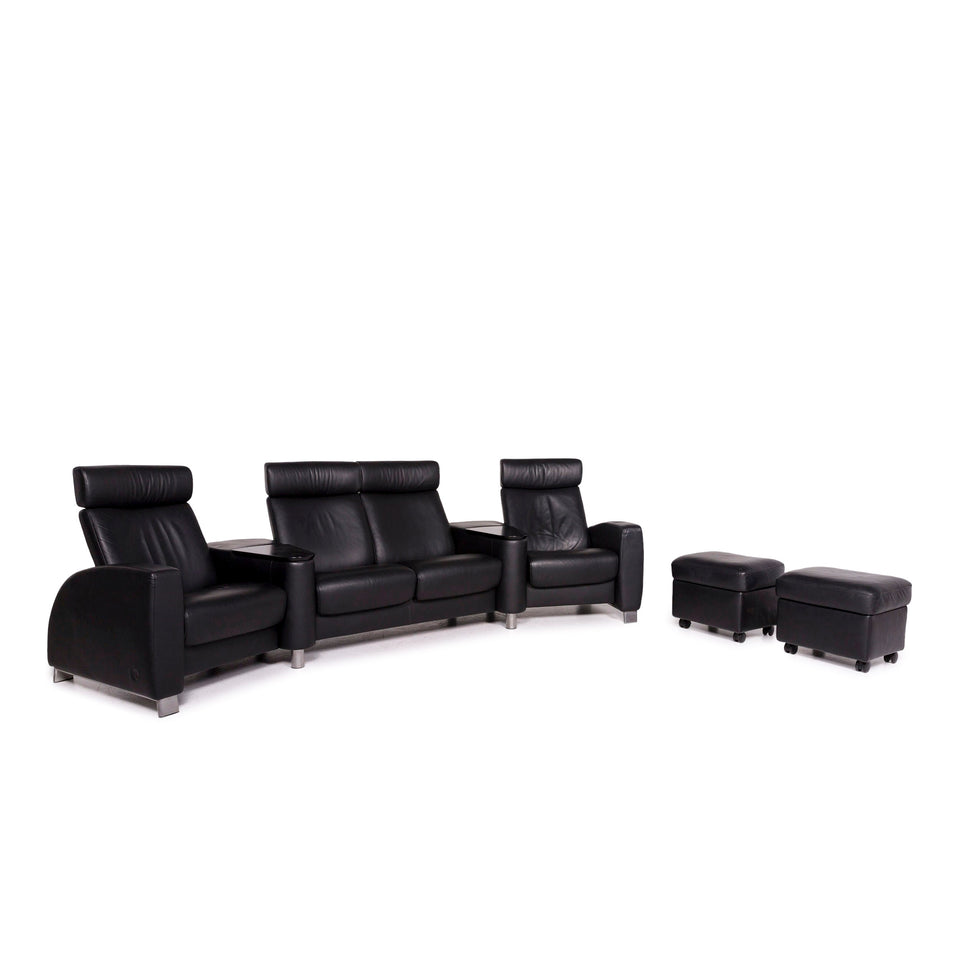 Stressless Arion Leder Sofa Garnitur 1x Viersitzer 2x Hocker #11696