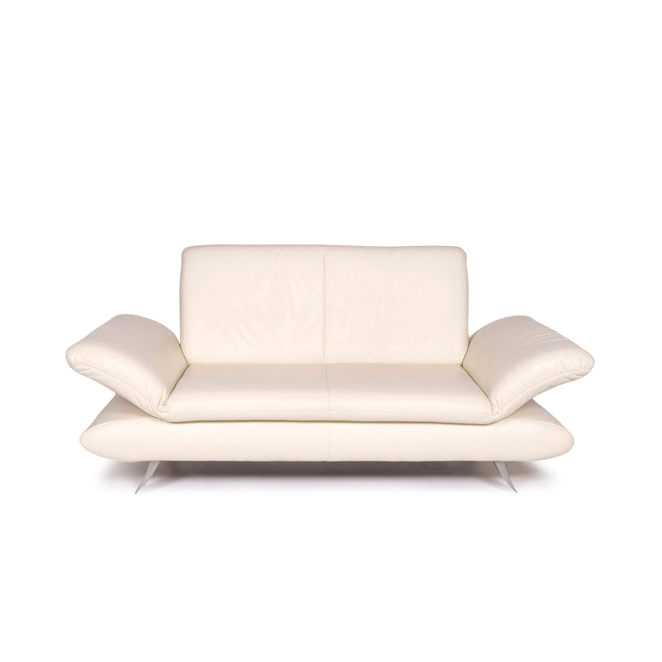 Koinor Rossini Leder Sofa Creme Zweisitzer Couch #12050