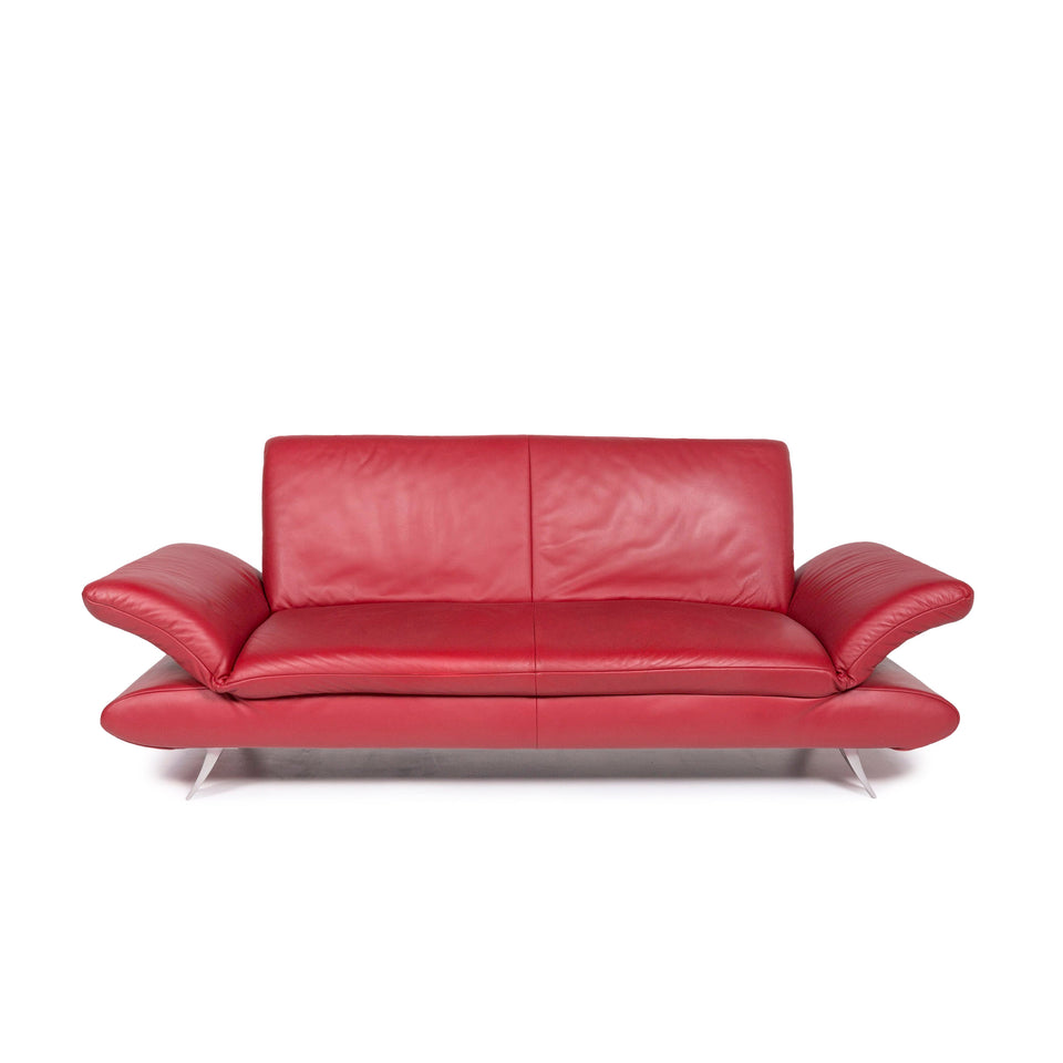 Koinor Rossini Leder Sofa Rot Zweisitzer Couch #11692