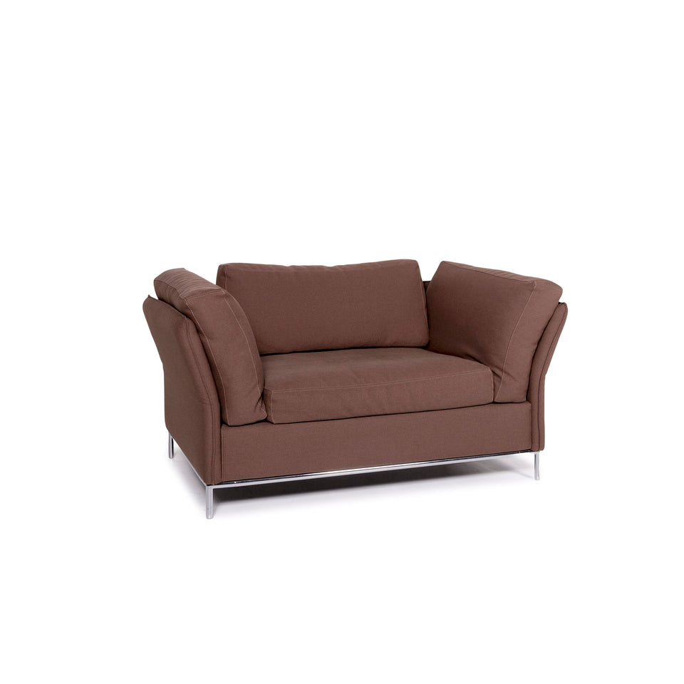 Machalke Loveseat Stoff Sessel Braun #11147