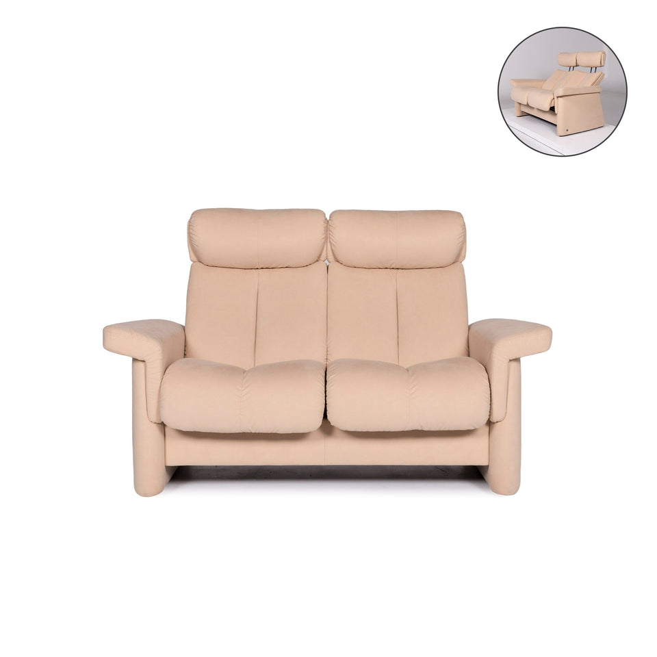 Stressless Legend Stoff Sofa Beige Zweisitzer Funktion Relaxfunktion Couch #10823