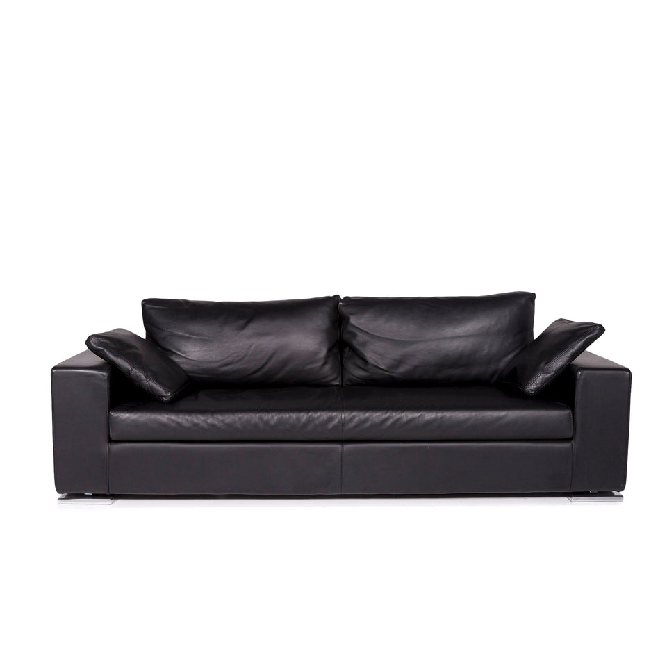 Who´s perfect LNC Sofa Schwarz Dreisitzer Couch #11209
