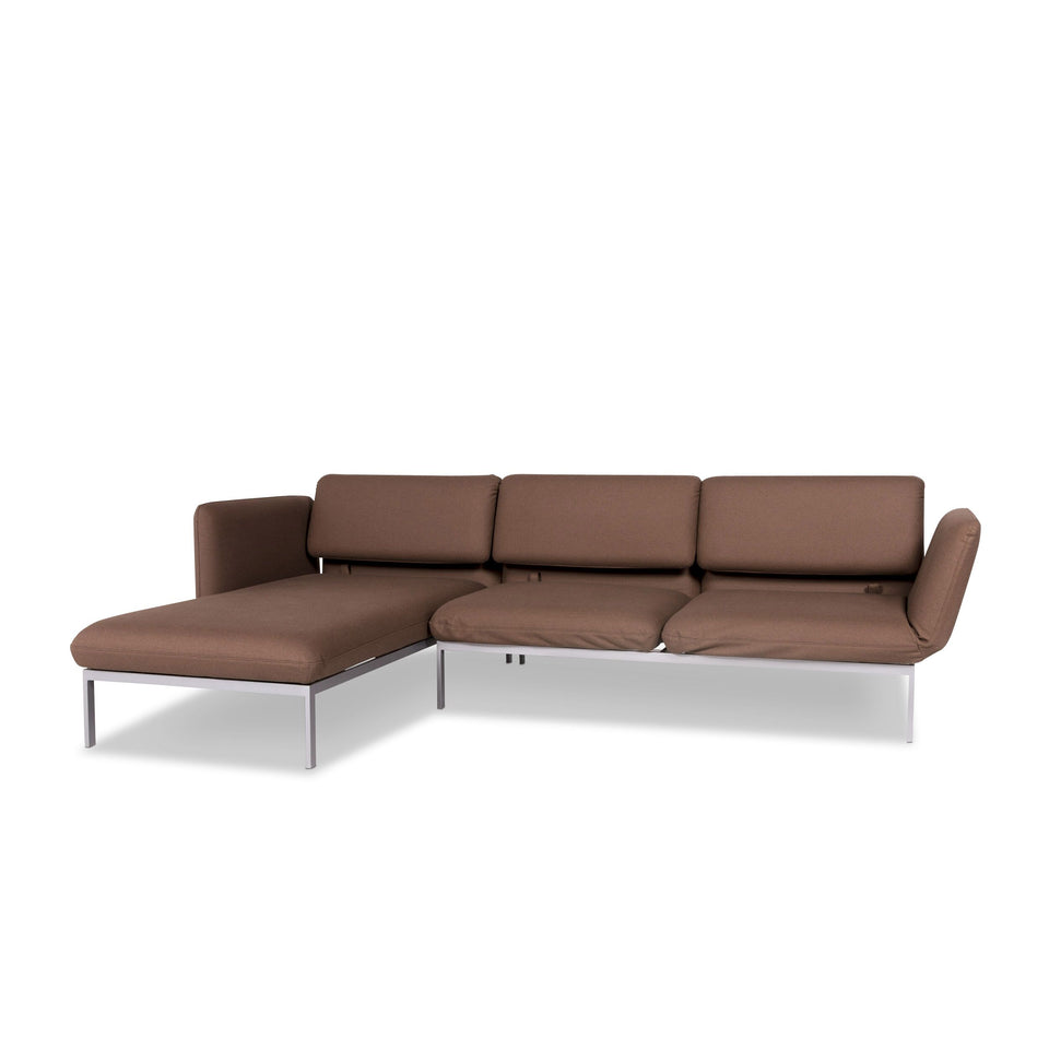 Brühl & Sippold Roro Stoff Ecksofa Braun Sofa Relaxfunktion Schlaffunktion Couch #10192