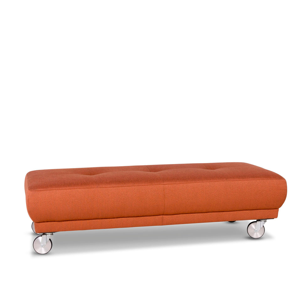 Willi Schillig Stoff Hocker Orange #10038