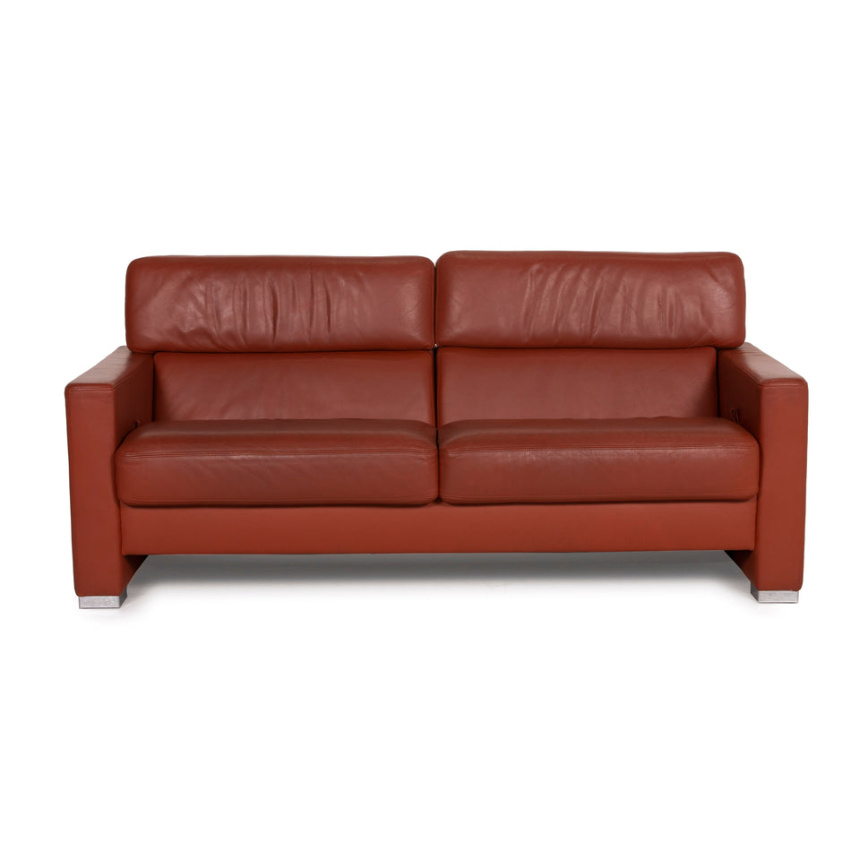 Brühl Collection Separe Leder Sofa Terrakotta Dreisitzer Funktion