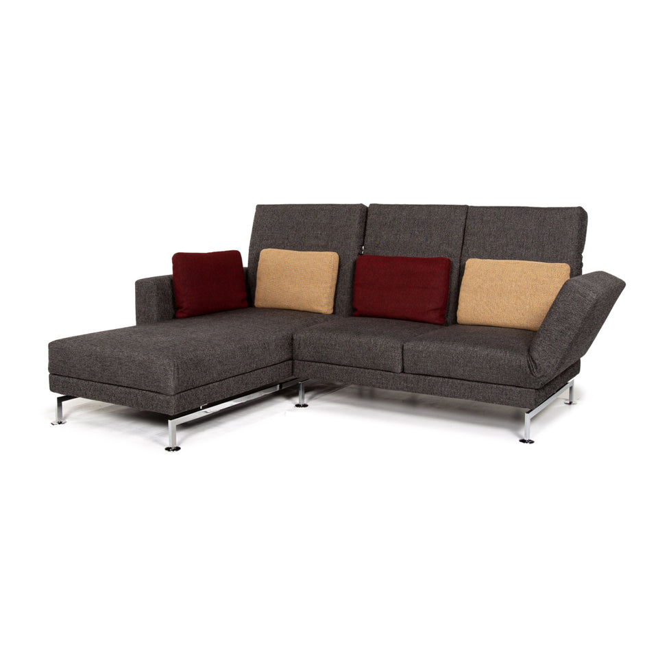 Brühl & Sippold Moule Stoff Ecksofa Grau Sofa Relaxfunktion Funktion Couch #14300