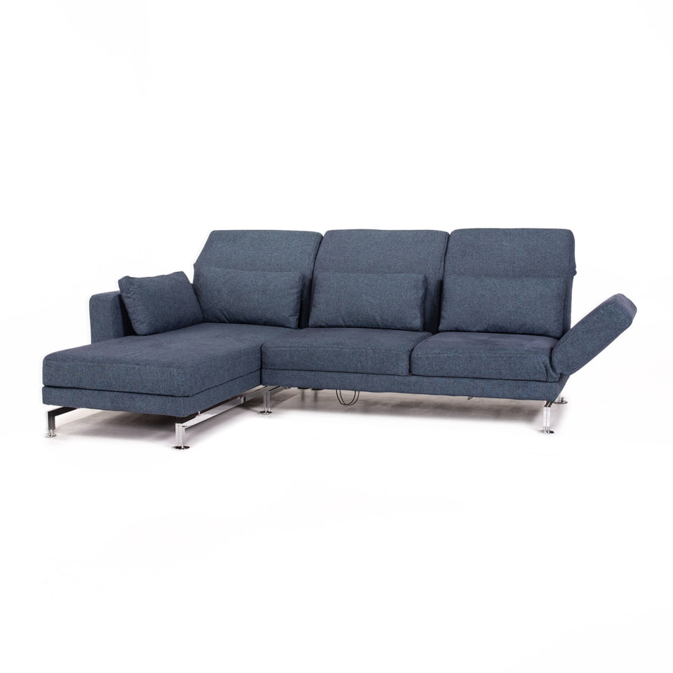Brühl & Sippold Moule Stoff Sofa Blau Funktion Relaxfunktion Couch #12929
