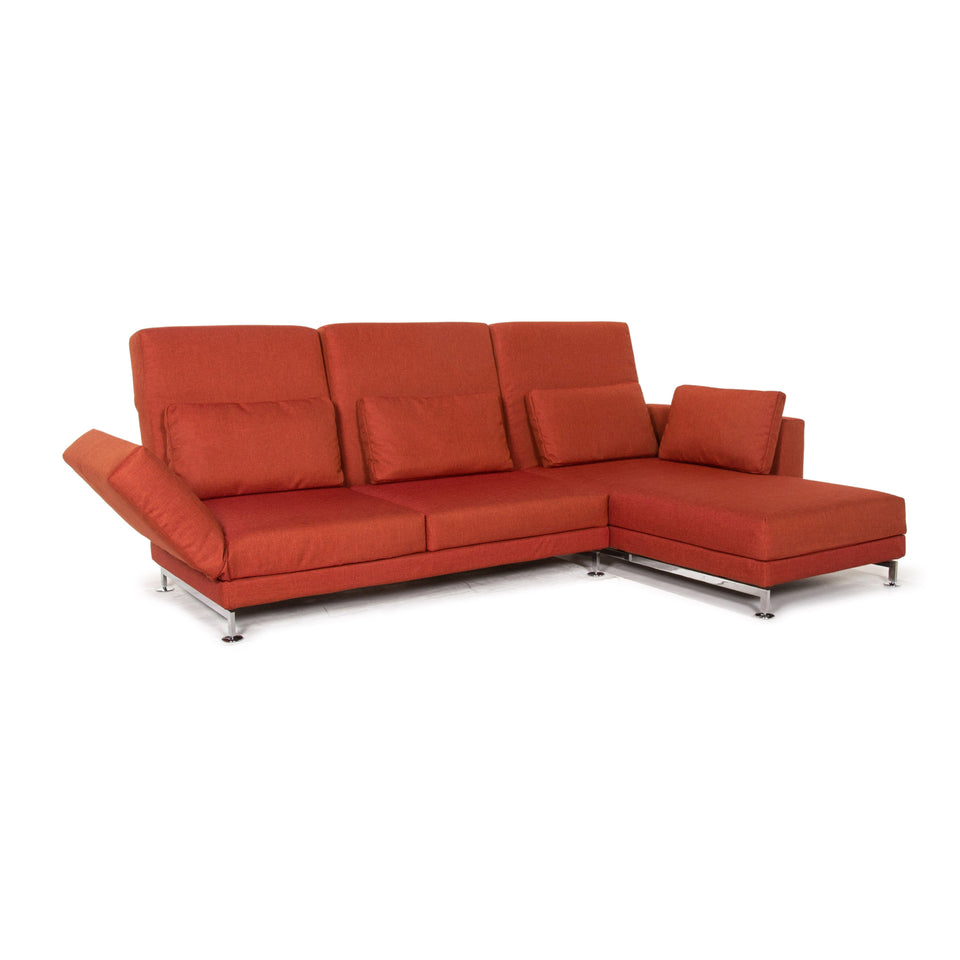 Brühl & Sippold Moule Stoff Sofa Terrakotta Rot Relaxfunktion Funktion Couch #14590