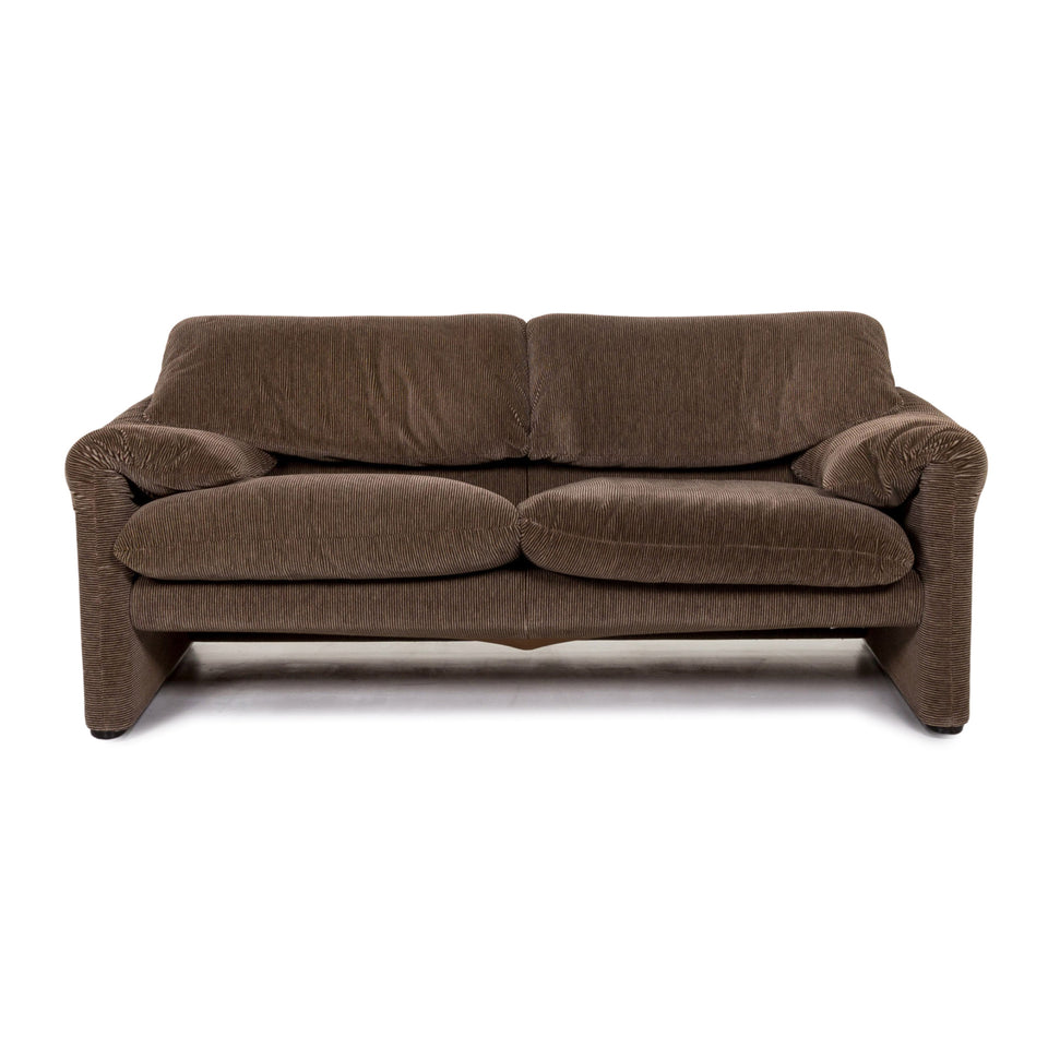 Cassina Maralunga Stoff Sofa Braun Dreisitzer Funktion Couch #13298