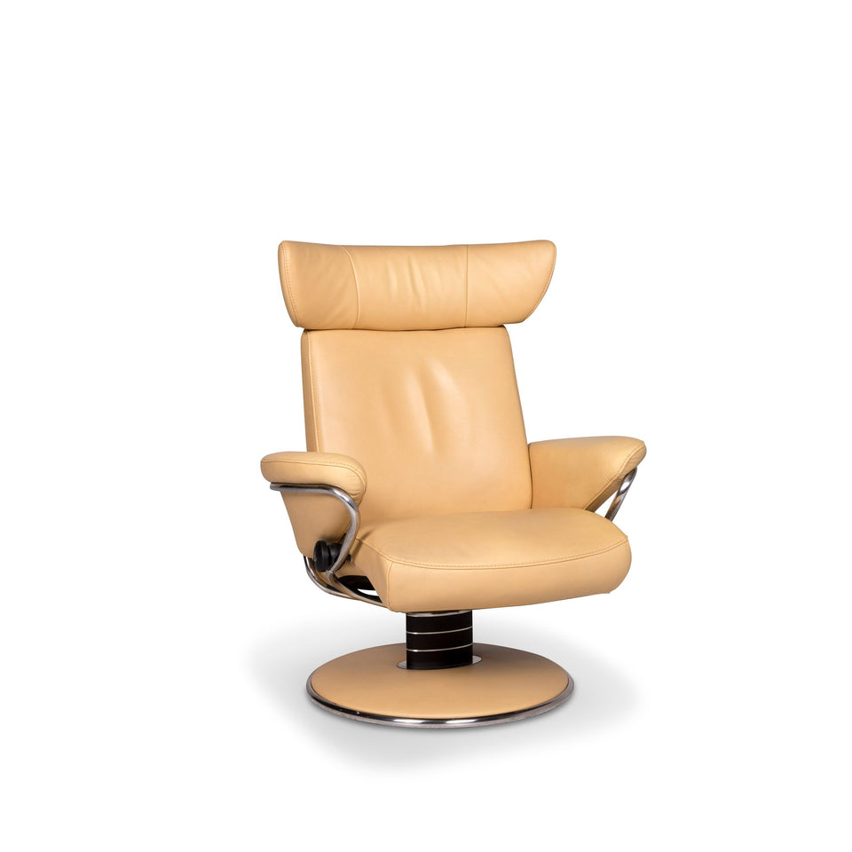 Stressless Jazz Leder Sessel Beige Relax Funktion #9730