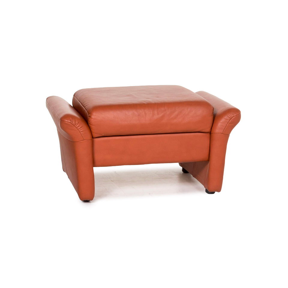 Himolla Leder Hocker Orange Terrakotta Funktion #12888