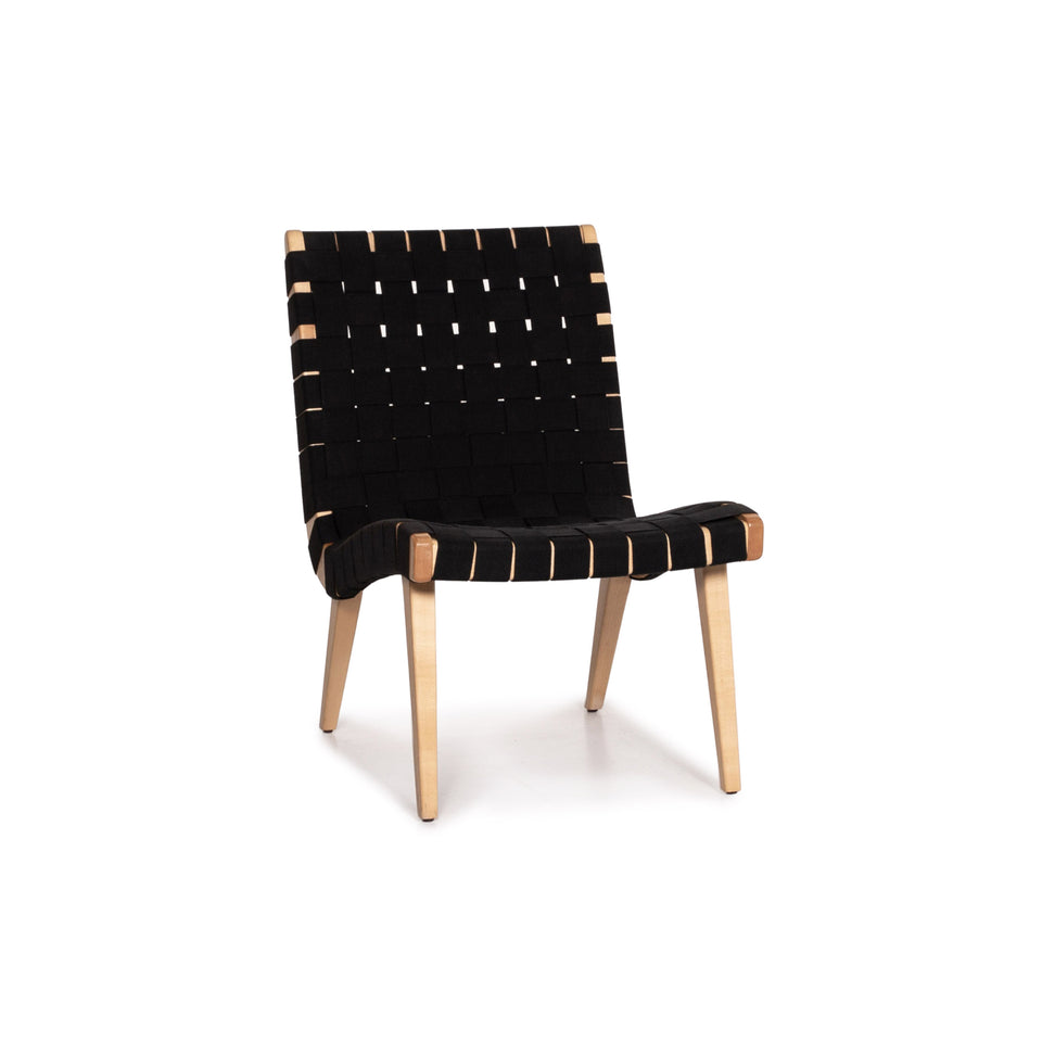 Knoll International Risom Lounge Chair toff Stuhl Schwarz Sessel #14921