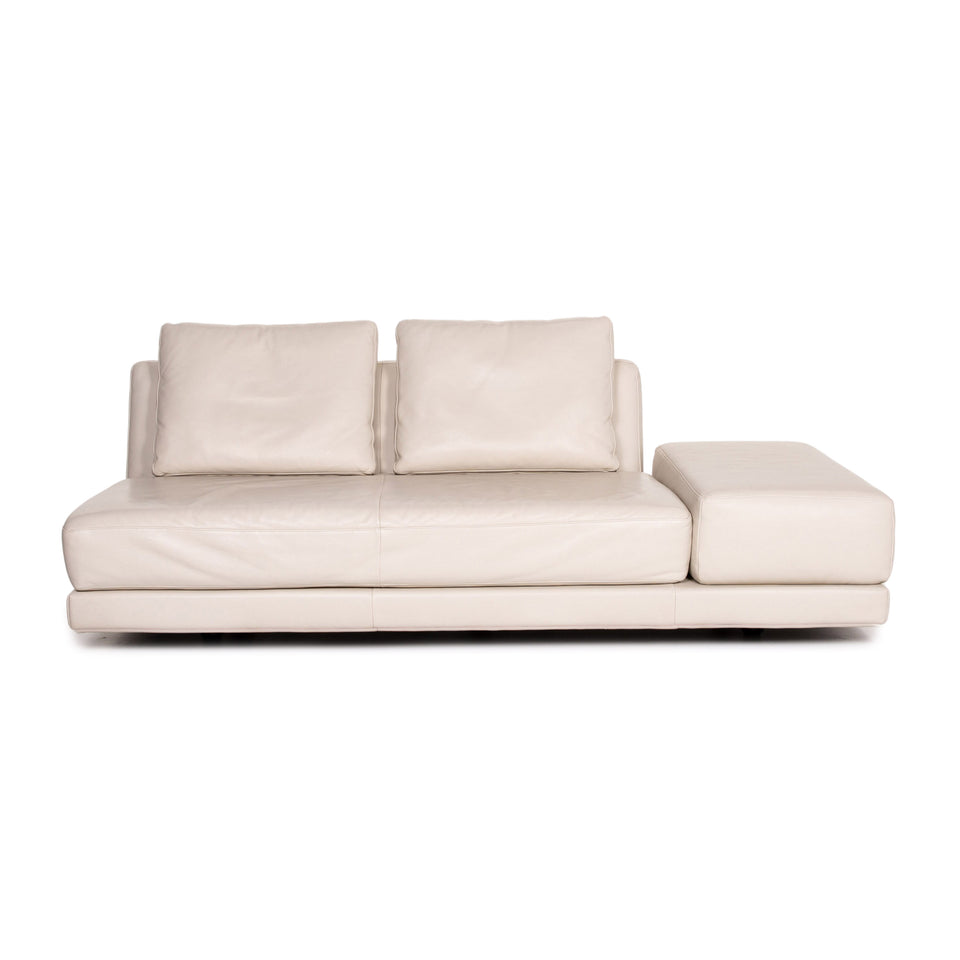 Koinor Leder Sofa Creme Dreisitzer Funktion Couch Outlet #13995