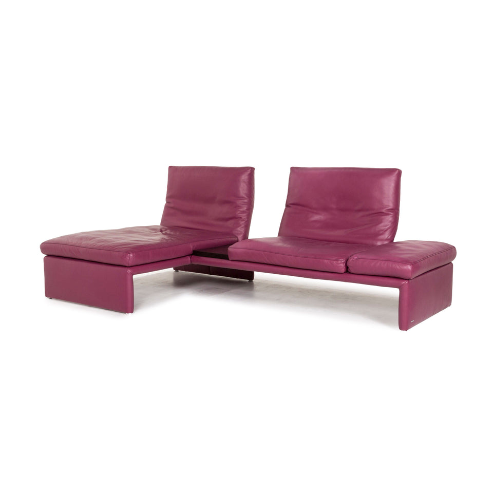 Koinor Raoul Leder Ecksofa Lila Sofa Funktion Couch #12684