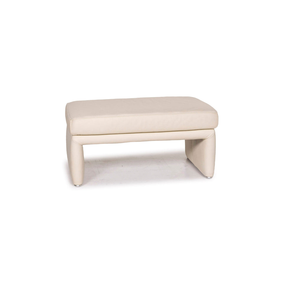 Koinor Raoul Leder Hocker Creme Schemel #12455