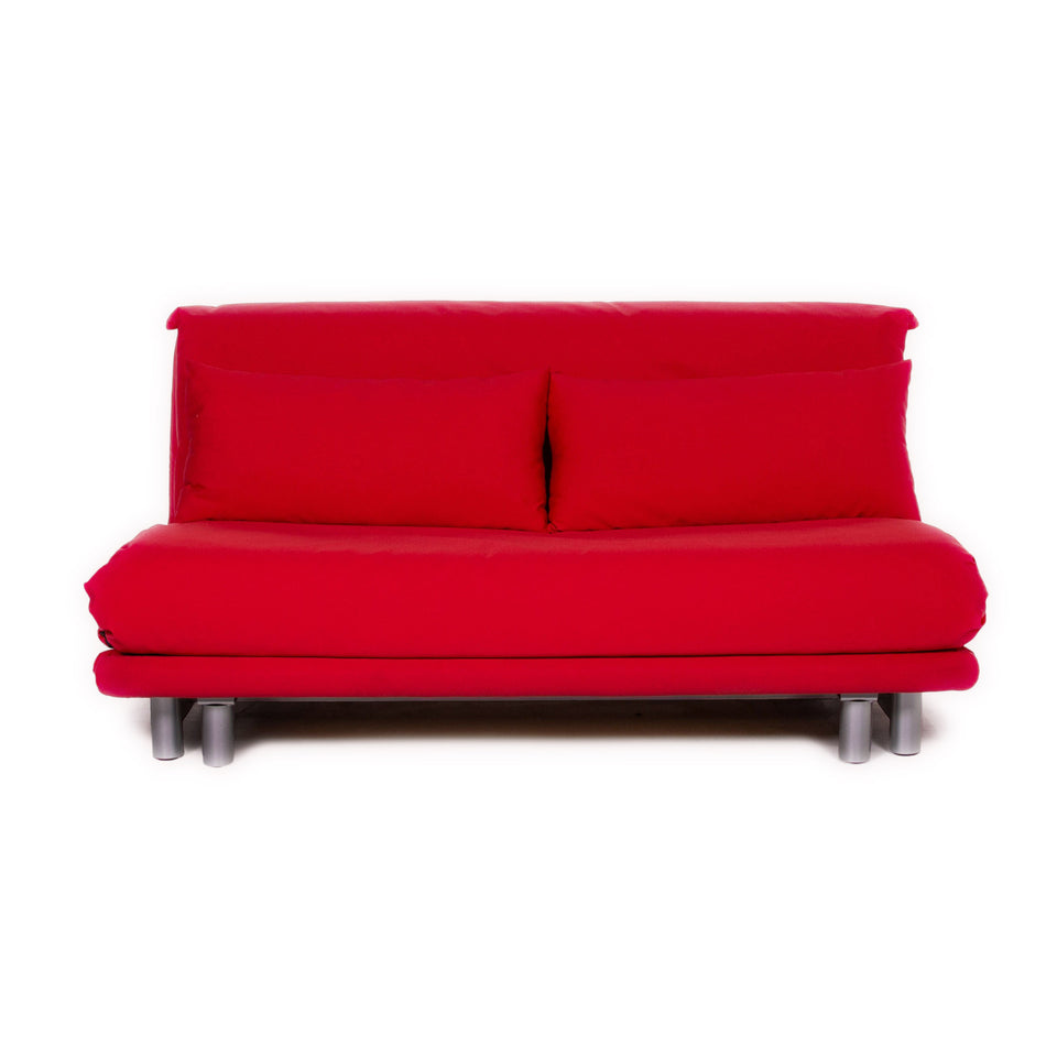 ligne roset Multy Stoff Schlafsofa Rot Pink Sofa Schlaffunktion Funktion Couch #11223