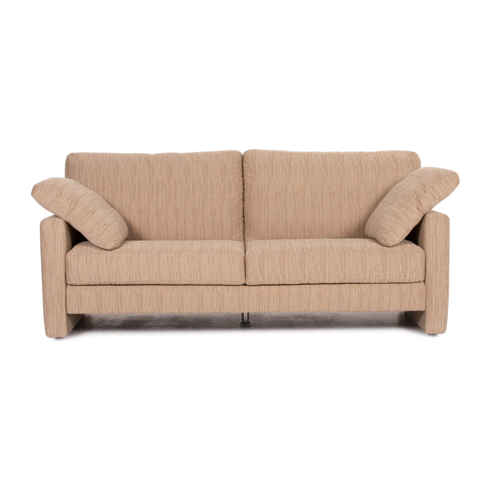 Musterring Stoff Sofa Creme Cappuccino Zweisitzer Couch #13891
