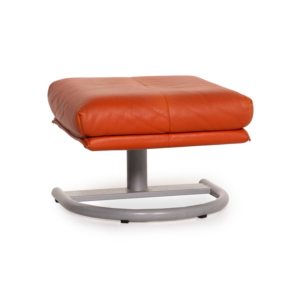 Rolf Benz BMP Leder Hocker Orange Terrakotta Ottoman
