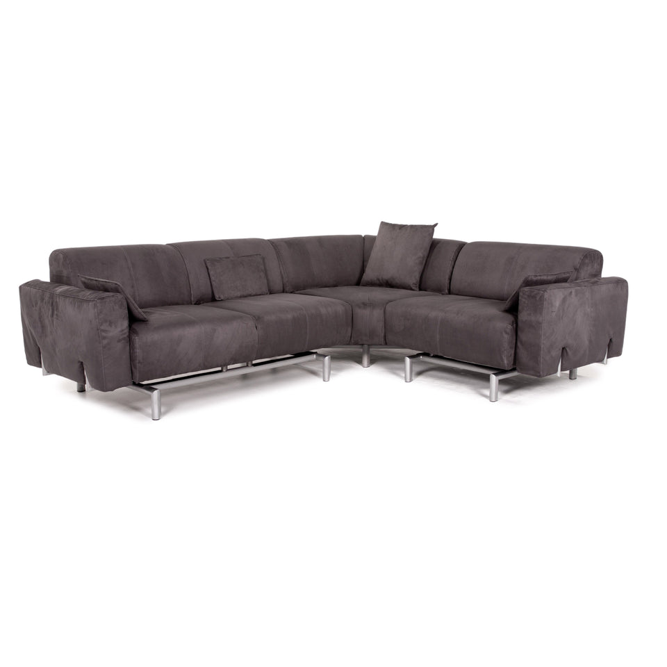 Strässle Matteo Domino Stoff Ecksofa Grau Sofa Funktion Couch Relaxfunktion #10377