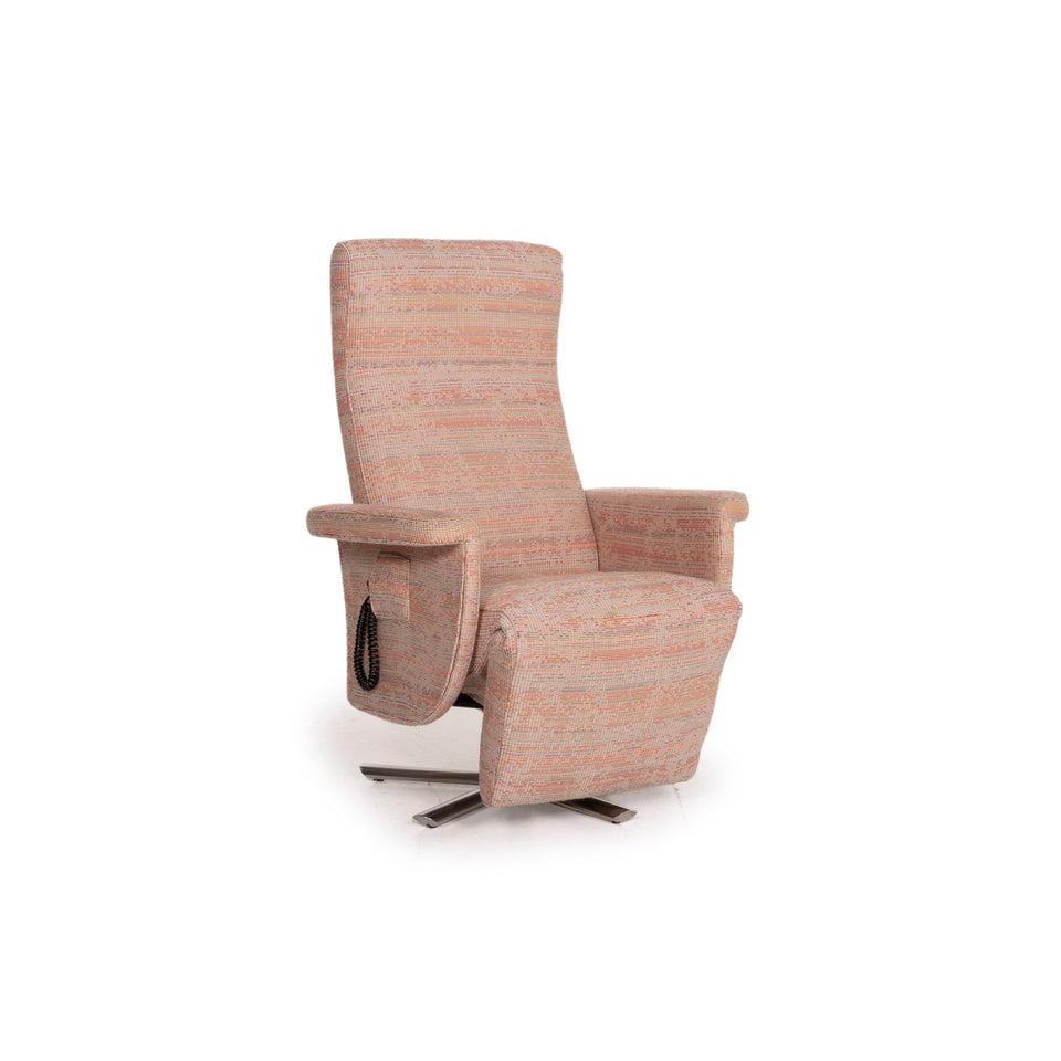 Strässle Stoff Sessel Rosé Beige Pastell elektrische Funktion Relaxfunktion Relaxsessel