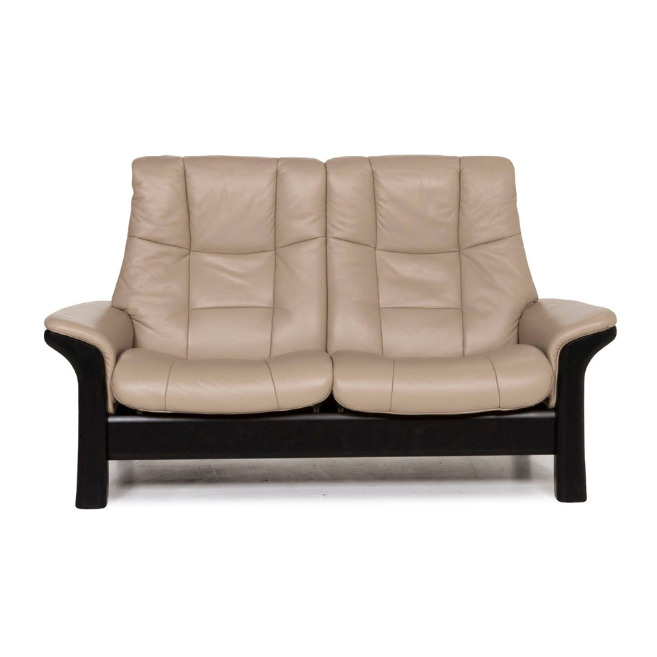 Stressless Leder Sofa Braun Hellbraun Zwesisitzer Relaxfunktion Funktion Couch #12987