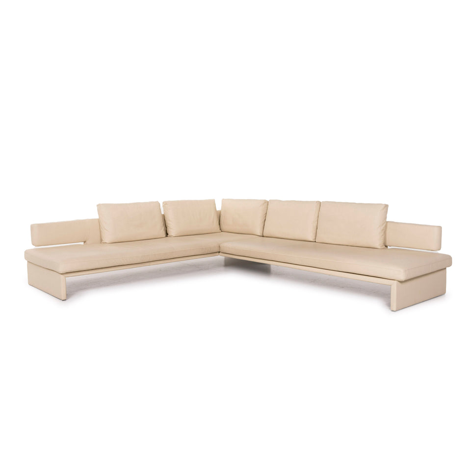 Walter Knoll Together Leder Sofa Creme Ecksofa #12347