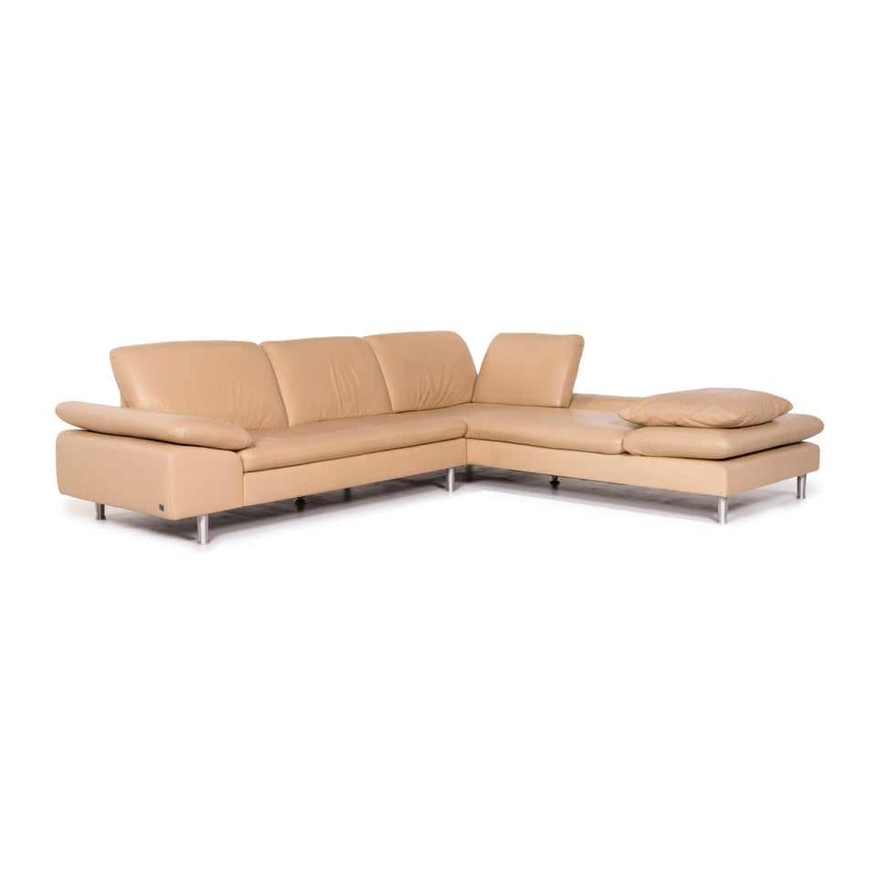 Willi Schillig Loop Leder Ecksofa Beige Sofa Funktion Couch #12145