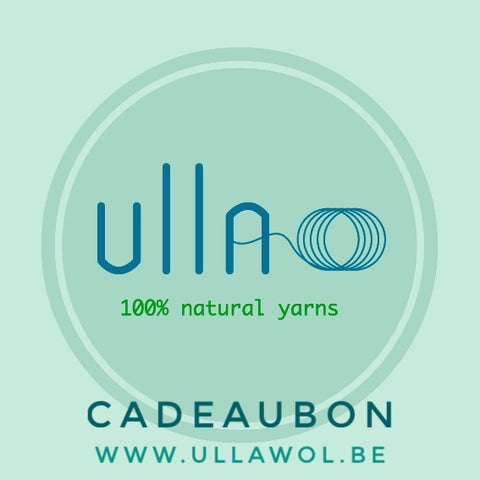 Cadeaubon - UllA - 100% sustainable yarn for 100% conscious knit & crochet