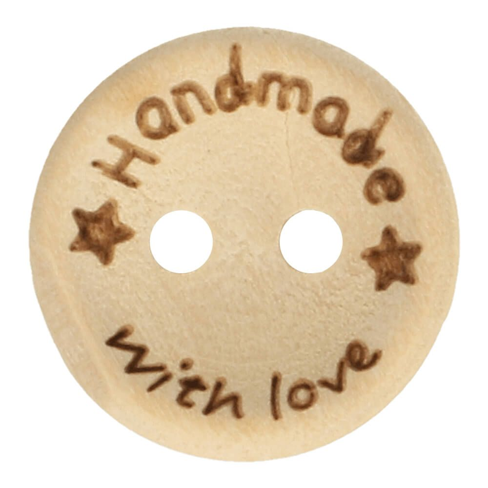 Knoop - Hout - Handmade with love- 15 mm