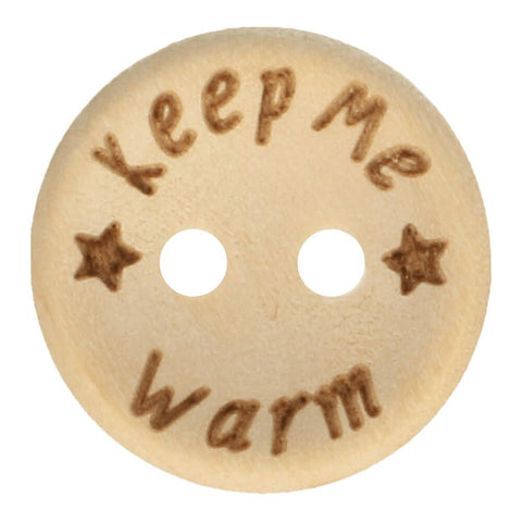 Knoop - Hout - Keep me warm- 15 mm