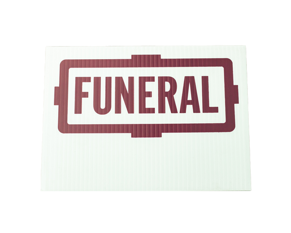 Automobile Burgundy Funeral Flag