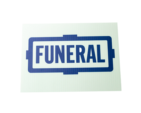Automobile Funeral Flag