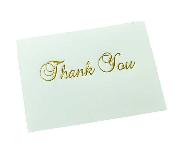 "Gold Foil Stamped ""Thank You"""