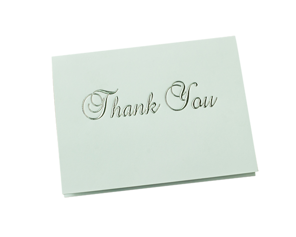 "Silver Foil Stamped ""Thank You"""