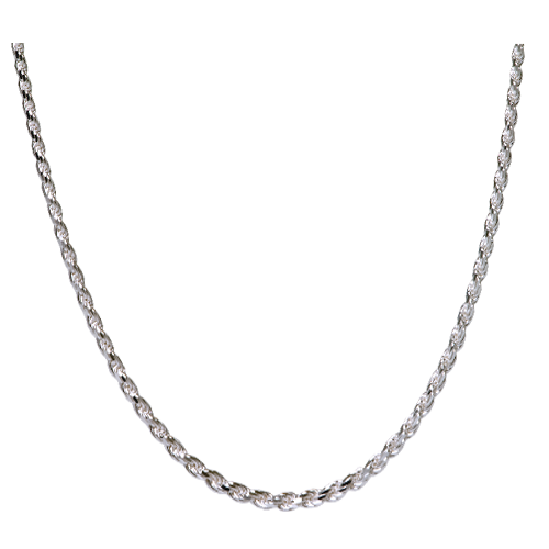 "18"" Sterling Silver Rope Chain"