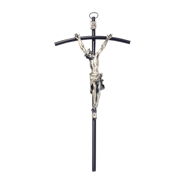 Deluxe Silver Plated Traditional Crucifix