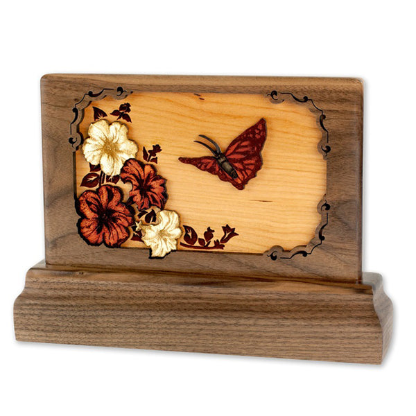Butterfly 3D Walnut Keepsake