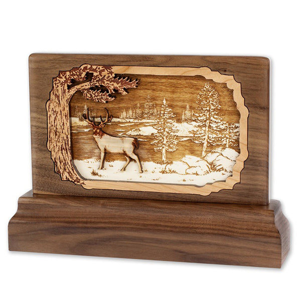 Deer 3D Walnut Keepsake